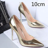Spring Autumn Women Pumps Sexy Gold Silver High Heels Shoes Pointed Toe Wedding Party - Shoes