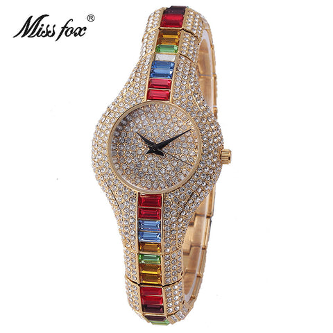 Women Watches Bracelet Watch Quartz Crystal Rhinestone