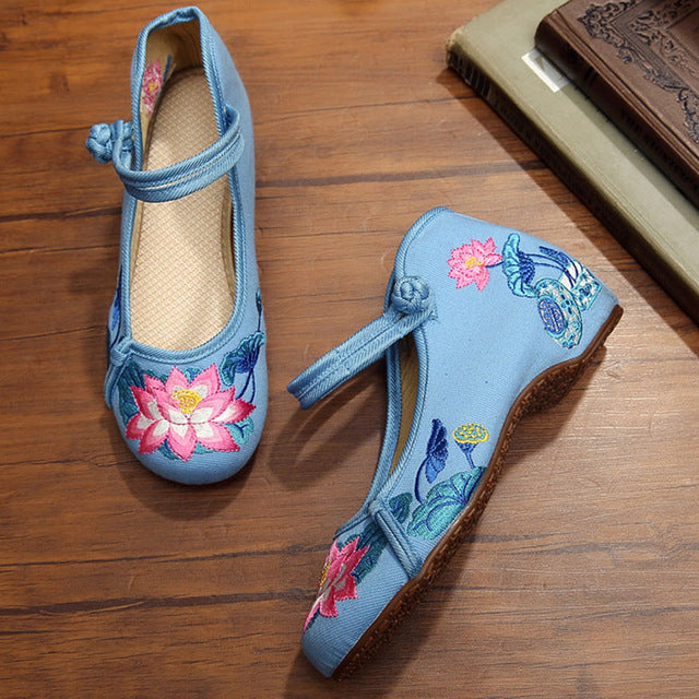 Casual Flats Shoes Women Sexy Ladies Embroidered Shoes Loafers Oxford - Shoes