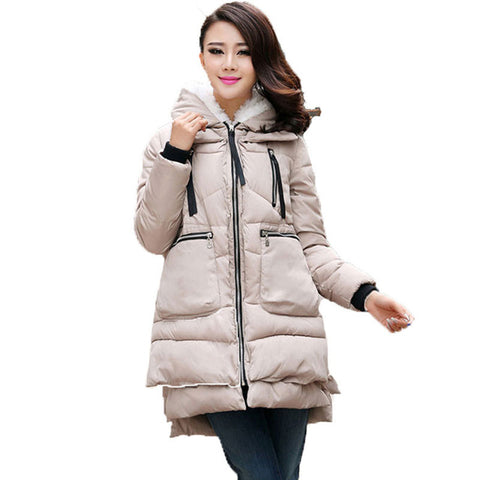 Winter Jacket Women Down Casual Winter Coats Plus Size Hooded Parka Coat Long Jackets