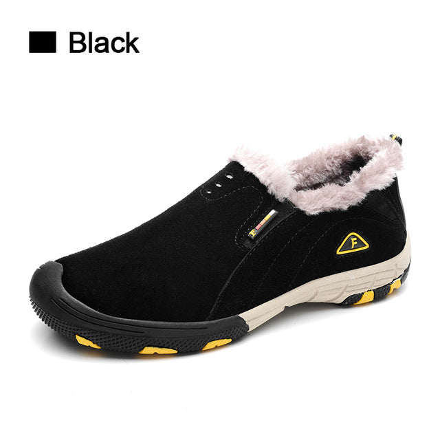 SUROM Real Leather Mens Winter Snow