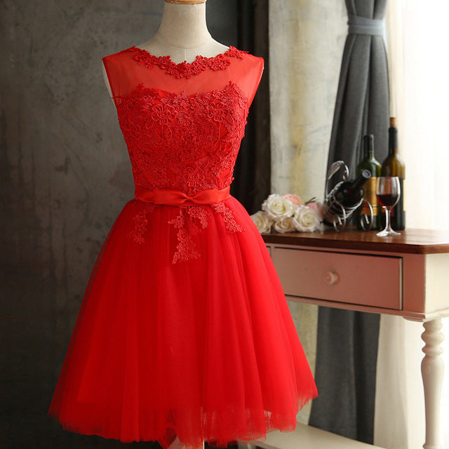 Lace Diamond Summer Dress Sleeveless Lovely Short Dress Sexy Slim Christmas Party Dresses Vestidos