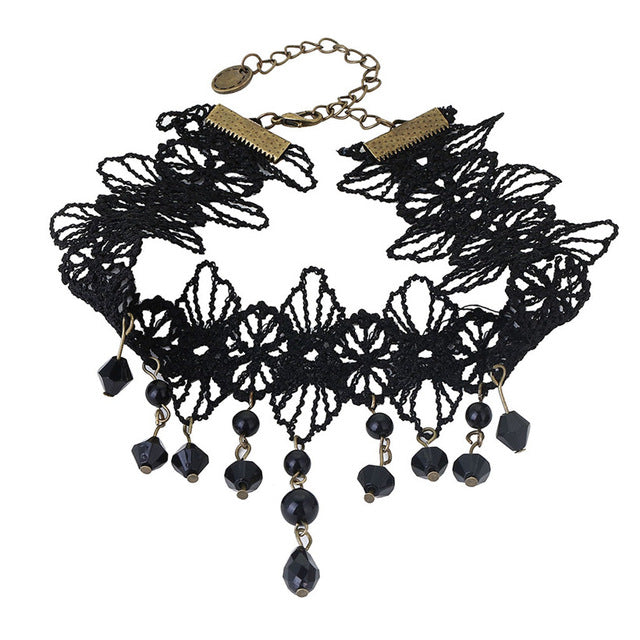 YiYaoFa Choker Statement Necklace Gothic Jewelry Vintage Lace Necklace & Pendant False Collar Women - Jewelry