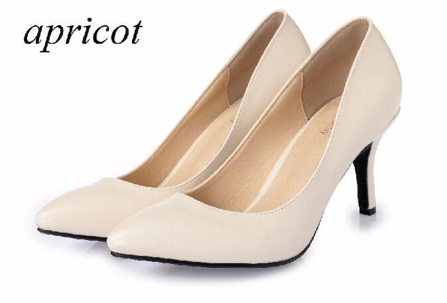 High Heels Women Pumps Sexy Bride Party Thin Heel Pointed Toe Sheepskin High Heel - Shoes