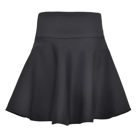 TANGNEST Sexy Skirt Solid Thick Tutu Skirts High Waist Flared Super Mini Skater Super Short Skirt