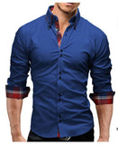Men Shirt Spring Business Men's Slim Fit Shirt Male Long Sleeves Casual Shirt Camisa Masculina