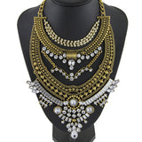 Rhinestone Big Pendant Exaggerated Necklace Vintage Statement Necklaces Pendants - Jewelry