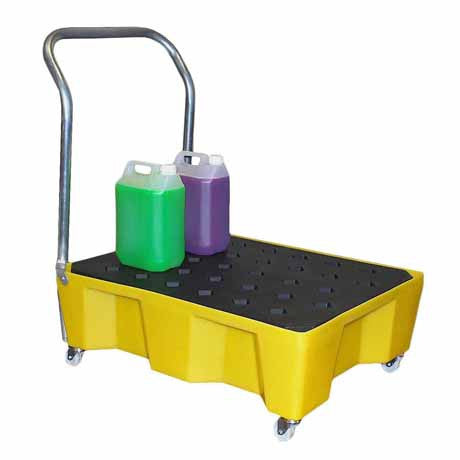 66 Litre Oil Or Chemical Spill Tray Trolley St66wh Oil