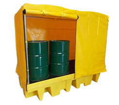 8 Drum Spill Containment Pallet with outdoor cover - BP8C