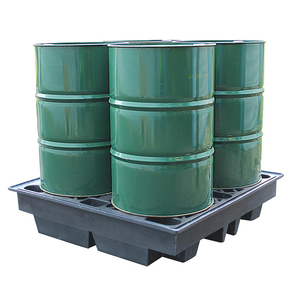 4 Drum Low Profile Spill Pallet Recycled - BP4LR