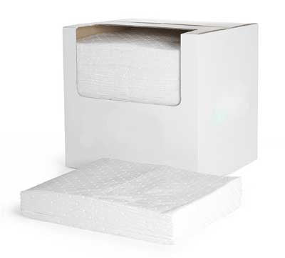 Oil Absorbent Pads Lightweight Dimpled