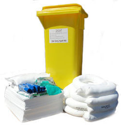 Oil Spill Kit Wheelie Bin 115 litre