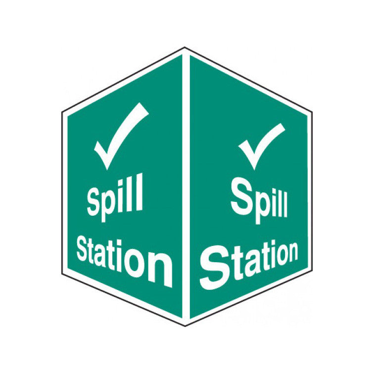 spill station sign 3d