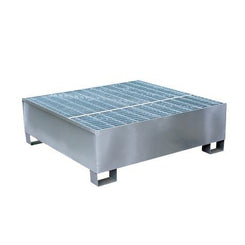 Steel spill containment pallet galvanised