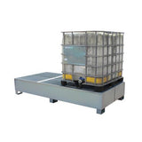Twin IBC Steel Spill Containment Pallet - BB2S