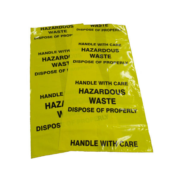 Waste Disposal Bags Yellow X 10 Wdby 10 Oil Spill Products