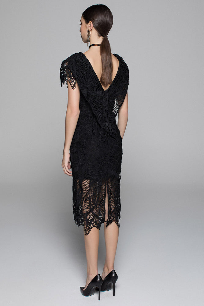 Tribal Lace Dress - Black - SPRING INTO ITSALE - ONLY 1 X SIZE 10 LEFT - NOW ONLY $189