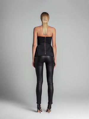 Stretch Leather Cigarette Pant - PRE -ORDER MAY
