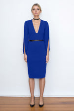 She Evolves Body Con Dress - Electric Blue