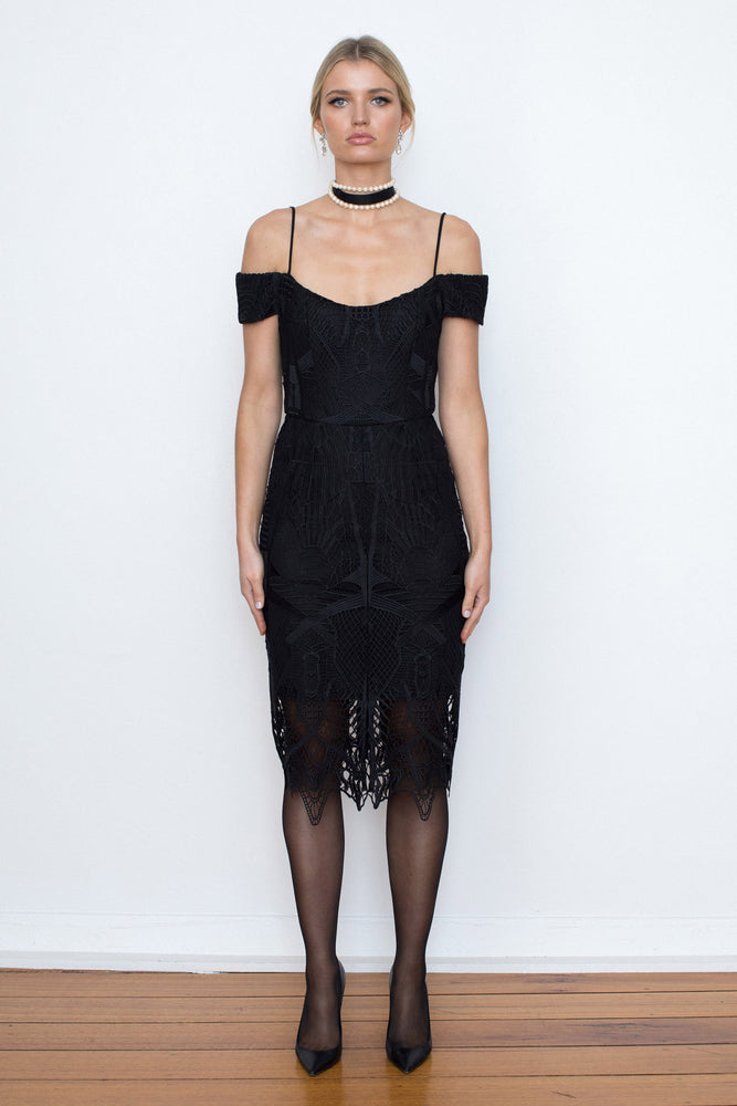 Pretty Woman Lace Dress - Black - FLASH SALE - NOW ONLY $149