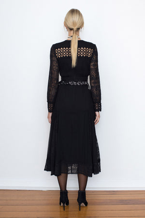 Silk Odessa Dress - Black - FLASH SALE - LIMITED SIZES - ONLY $199 SIZE 6 ONLY LEFT