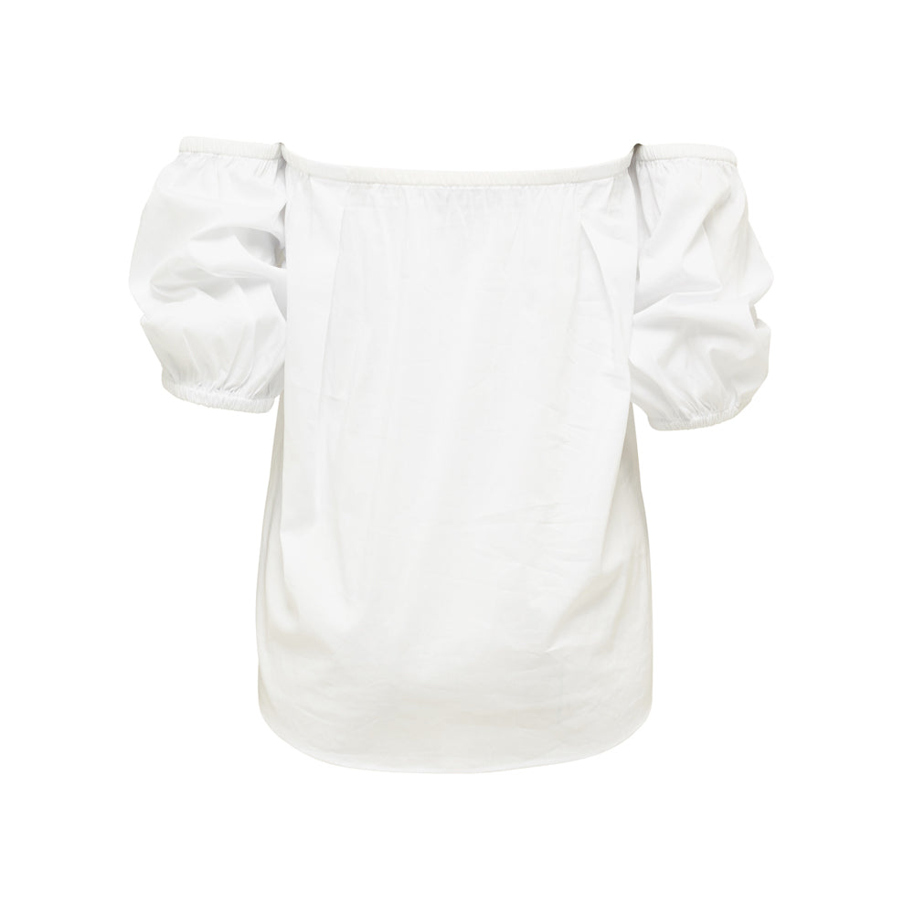 Strapless Shoulder Top - WHITE - WAREHOUSE SALE