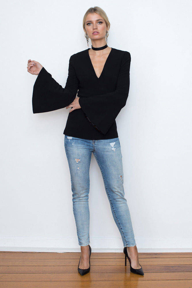 Circular Crepe Tunic - FLASH SALE - LAST SIZE 6 - NOW ONLY $99