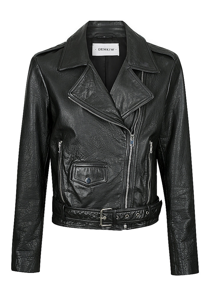 The Adelle Biker - Washed Black - BEST SELLER