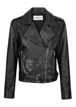 The Adelle Biker - Washed Black- BACK IN STOCK