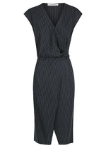 Stripe Linen Wrap Dress- FLASH SALE - ONLY 1 X SIZE 6 AND 1 X SIZE 12 LEFT - NOW ONLY $129