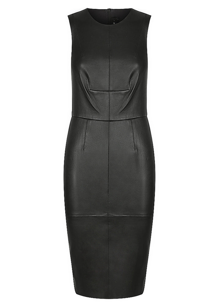Stretch Leather Zip Dress - PRE ORDER