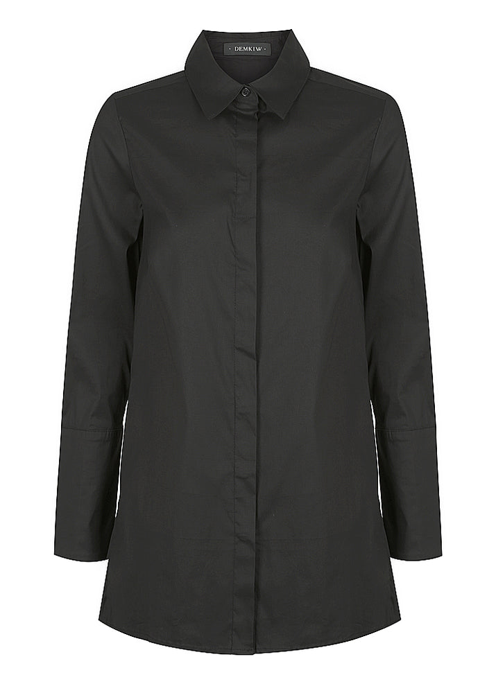 Cross Back Stretch Shirt - Black