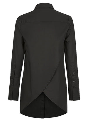 Cross Back Stretch Shirt - Black - FLASH SALE - WAS $189 NOW $139 - ONLY 1 X SIZE 6, 1 X SIZE 8 LEFT