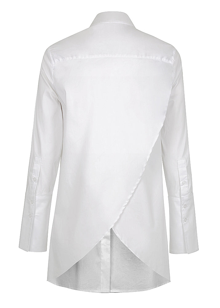 Cross Back Stretch Shirt - White - FLASH SALE - 1 X SIZE 8 LEFT ONLY NOW $139