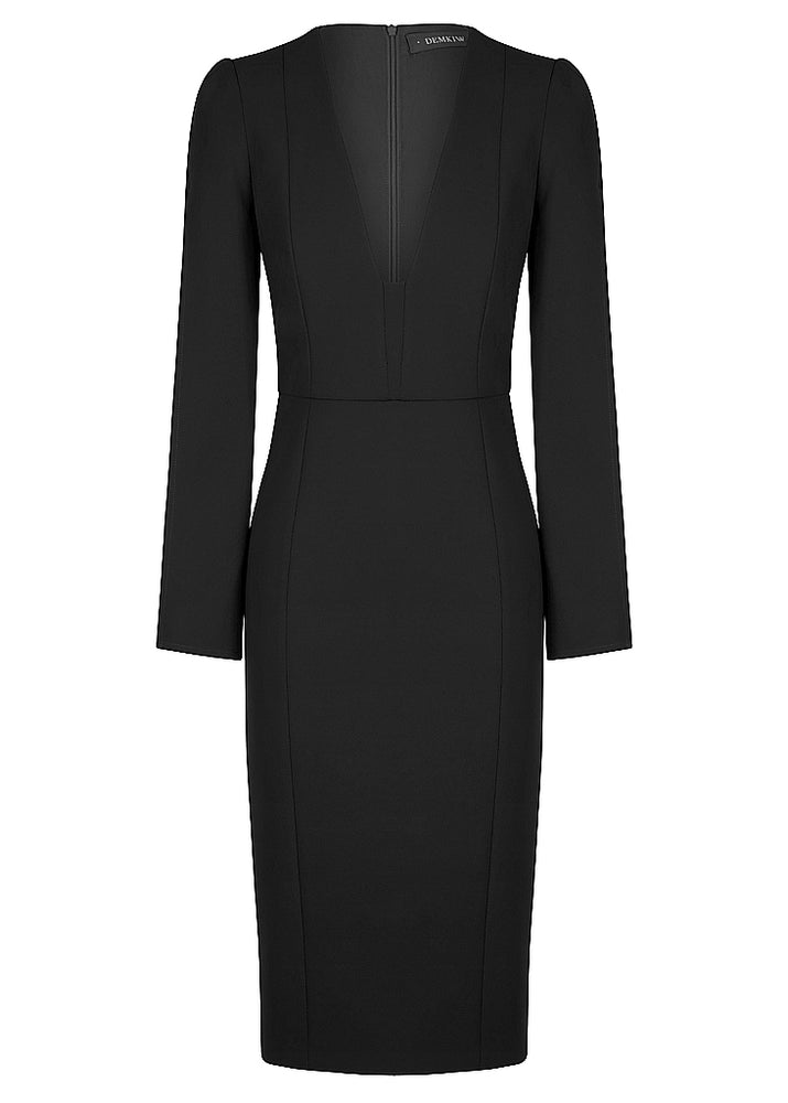 She Evolves Body Con Dress - Black - $299