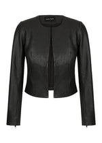 L/S Cropped Leather Jacket with Zips - NEW ARRIVAL -$100 off CODE: WSGIFT $389 limited time SELLING FAST