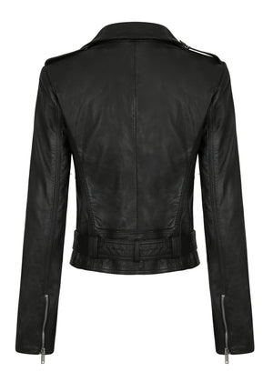 The Adelle Biker - Washed Black- $499 PRE ORDER FEB DELIVERY