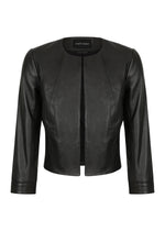 Cropped Leather Jacket 3|4 Sleeve - BACK IN STOCK