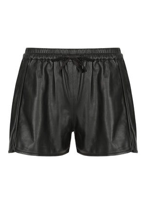 Leather Running Short - Black - Size 8 - ONLY 1 LEFT