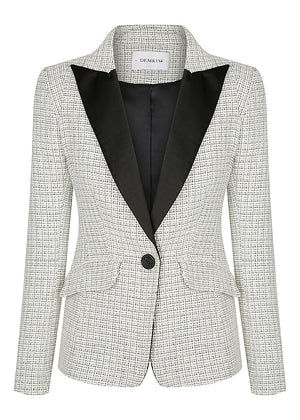 Parisian Boucle Shoulder Tuxedo 1.02 - Ivory - SOLD OUT - PRE-ORDER