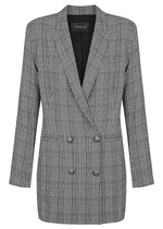 Tuxedo Dress Coat Jacket 2.2 - Black Check - NEW ARRIVAL - ONLY 2 X SIZE 8 & 2 X SIZE 10 LEFT
