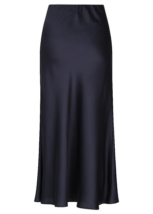 Liquid Slip Skirt - Ink Navy - NEW ARRIVAL