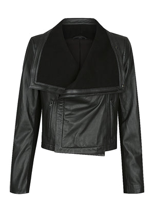 "Stevie Rib Collar Leather Jacket - NEW RELEASE ""PRE-ORDER"""