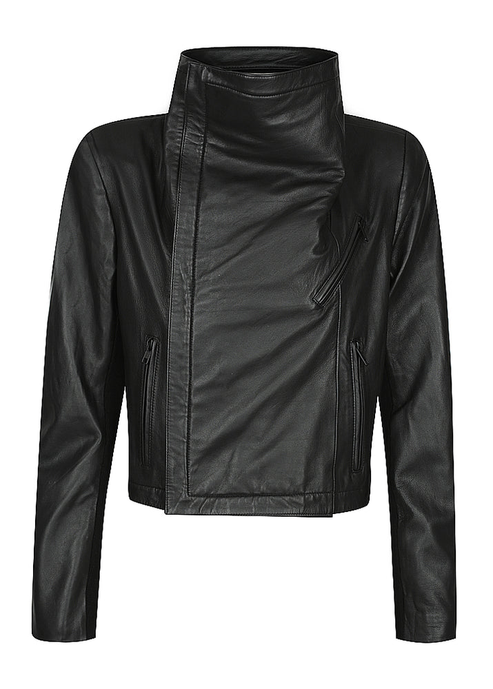 "Stevie Rib Collar Leather Jacket - NEW RELEASE ""PRE-ORDER MAY"""
