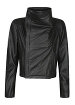 "Stevie Rib Collar Leather Jacket - NEW RELEASE ""PRE-ORDER JULY"""