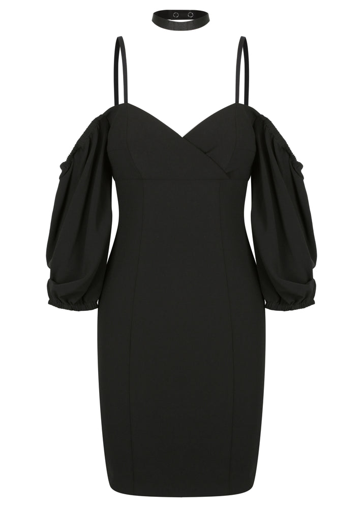 Paris Shoulder Mini Dress - Black - SPRING INTO IT SALE - ONLY $179