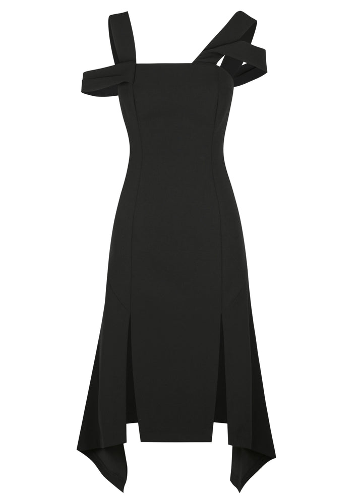 Bonded Crepe Racedays Dress - Black - FLASH SALE - NOW ONLY $99