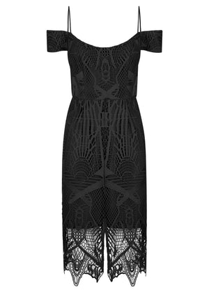 Pretty Woman Lace Dress - Black - SPRING INTO IT SALE - NOW ONLY $169