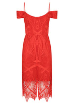 Pretty Woman Lace Dress - Red - SPRING INTO IT SALE - NOW ONLY $169