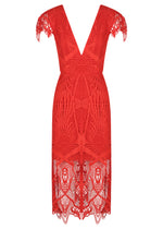 Tribal Lace Dress - Red - FLASH SALE - NOW ONLY $189 - JUST SOLD OUT